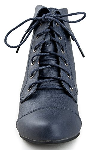 Navy Bootie Breckelle's Blue Boots 11 Indy qC6wwx0IR