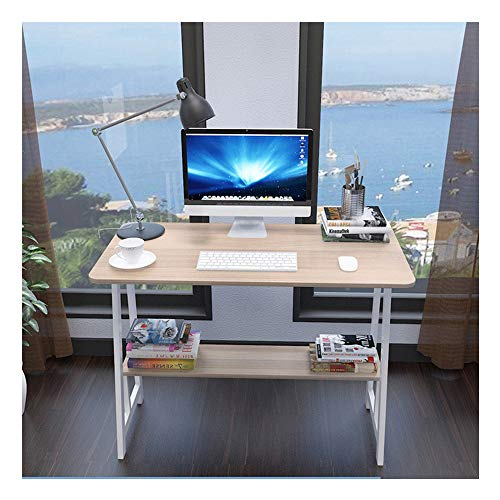 ZGstore Computer Desk with Storage Baffle- Simple Corner Desk Laptop Table Drafting Tables Study Desk Workstation for Home Office Dormitory (31.5×19.7Inch) (White Maple)