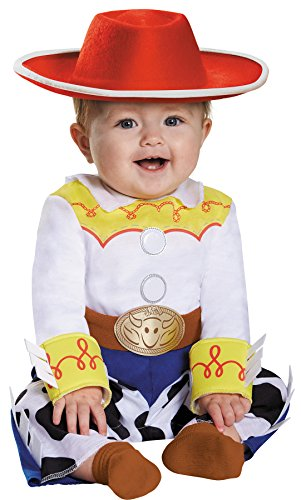 Jessie Infant Costumes (UHC Baby Girl's Toy Story Jessie Jumpsuit Infant Halloween Fancy Costume, 12-18M)