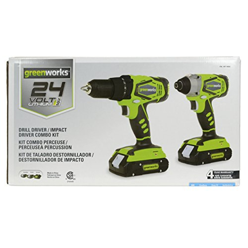 Greenworks CK24B220 24V Lithium MAX Drill Driver / Impact Driver Combo Kit by Unknown