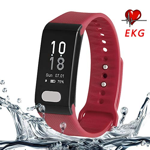 Cocofit ECG/EKG Fitness Tracker, Activity Tracker with Heart Rate Monitor, Blood Pressure Monitor, Sleep Monitor, Waterproof Smart Band with Step Tracker, Calorie Tracker,Pedometer for Kids Women Men