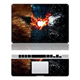 Vati Leaves Removable Batman Protective Full Cover Vinyl Art Skin Decal Sticker Cover for Apple MacBook Pro 13.3