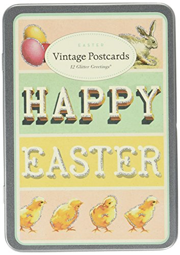 Postcard Easter (Cavallini Papers 12 Postcards Vintage Easter Glitter Greetings)