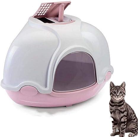 FXQIN Caja de Arena para Gatos con Tapa, baño para Mascotas con ...
