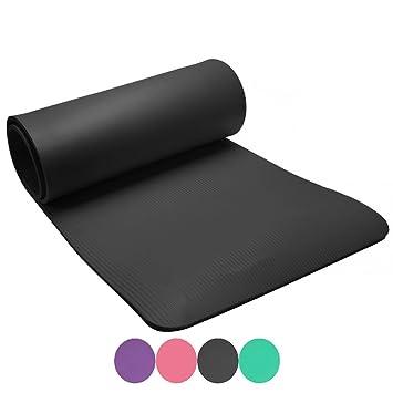 GIANCOMICS® Colchoneta de Yoga/Gimnasia Ejercicio y Fitness Regramos el Bolsa Negra de Almacenamiento 183X61X1cm 4 Color