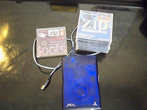 iOMEGA Z100USBS 32613 ZIP 100 USB EXTERNAL DRIVE PC MAC 100MB (SLIM) REMAN W/CABLE