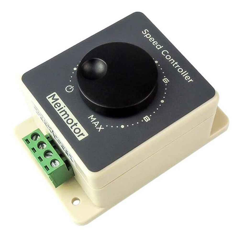 Elenxs Waterproof Shell DC 20A 12V 24V 36V 48V MAX 20A DC Motor Speed Control PWM HHO RC Controller Speed Regulator