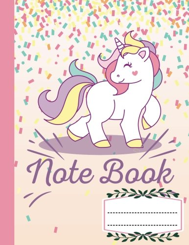 """Notebook Composition Book Wide Ruled Kawaii Pink Unicorn, Writer's Notebook for School / student / office / teacher: Large School /college notebook with emoji icon inside, 110 Pages, 8.5x11"""""""
