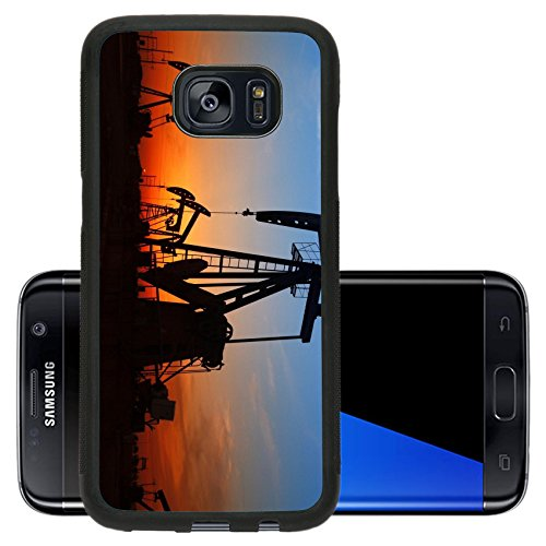 Heavy Crude Oil (Luxlady Premium Samsung Galaxy S7 Edge Aluminum Backplate Bumper Snap Case IMAGE ID: 42387474 silhouette of the oil pump during sunset)