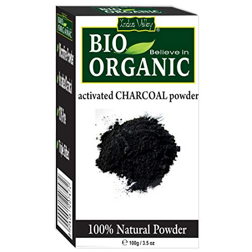 INDUS VALLEY 100% Natural Activated Charcoal Powder Ideal for Skin Removes Dead Skin, Impurities, Detoxifies Skin…