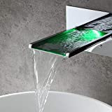 JinYuZe LED Waterfall Vanity Vessel Sink