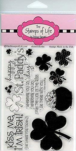 Rainbow2Stamp Sentiments Cute Rainbow St Patricks Day Stamps for Card-Making and Scrapbooking Supplies by The Stamps of Life