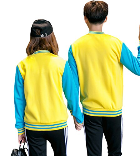 Jacket TRENDY and Women's Custom XU Men's Yellow Baseball Top Casual 8qrnP8Rw