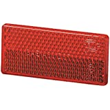 HELLA 004412021 4412 Red Rectangular Reflex Reflector with Adhesive