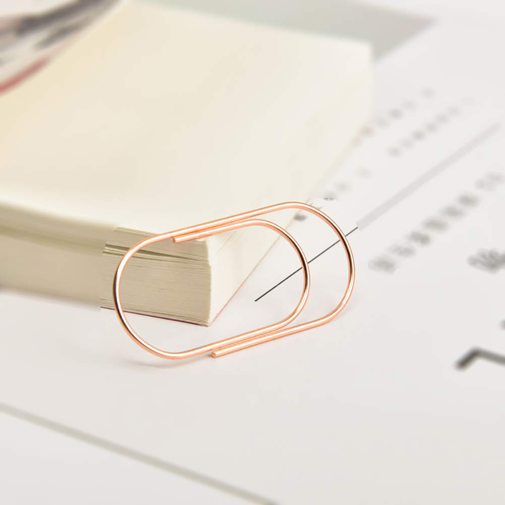 Rose Gold Paper Clips, Topgogo 20pcs 50mm 1.97\