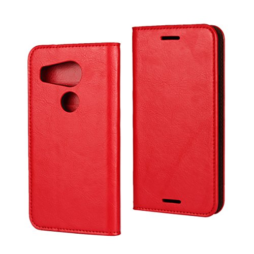 LG Nexus 5X Wallet Case,Jaorty Premium Leather Folio Flip Full Body Case Cover Book Design with Kickstand Feature with Card Slots/Cash Compartment for LG Nexus 5X - Red