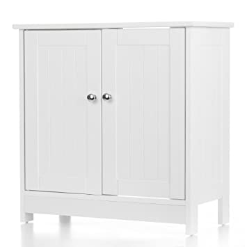 Ikayaa Modern Under Sink Storage Cabinet With 2 Doors Bathroom