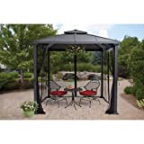 Better Homes and Gardens Sullivan Ridge Hard Top Gazebo with Netting, 8′ x 8′