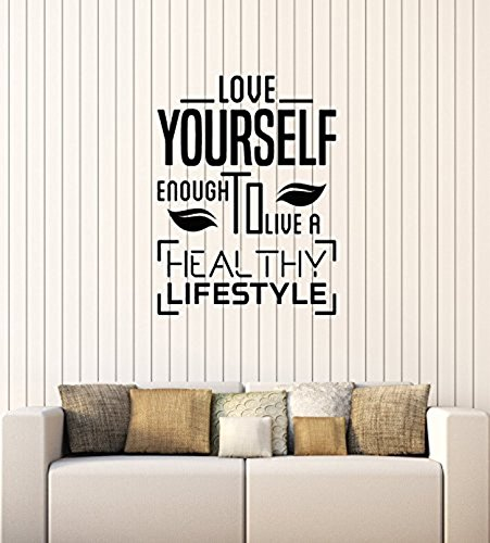Art of Decals WallStickers4ever Vinyl Wall Decal Healthy Lifestyle Quote Diet Health Inspire Medical Office Stickers Mural Large Decor 593 by Art of Decals