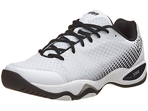 Prince Men's T22 Lite Tennis Shoes (White/Black) (10.5 D(M) US)