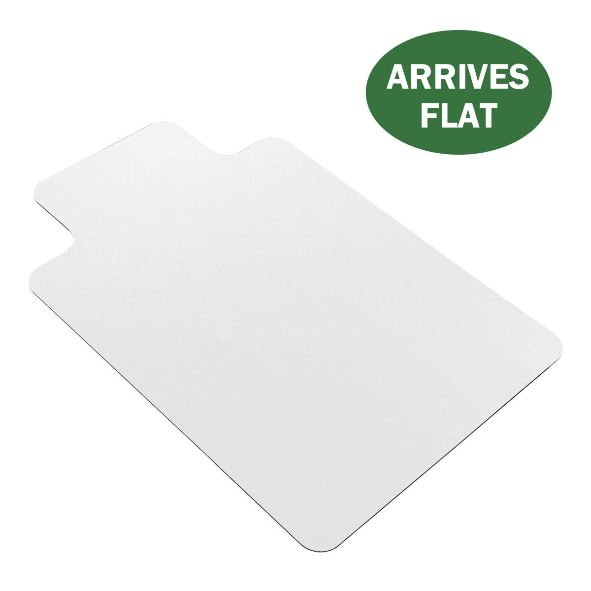 HGmart Office Chair Mat for Home Office Desk Chairs Anti-Slip Transparent Floor Protector for Hardwood Floor Ships Flat Ready to Use 48''x36'' with Lip 1 Pack