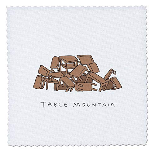 - 3dRose Unclipped Adventure - misc Humour - Table Mountain Cape Town - 22x22 inch Quilt Square (qs_299842_9)