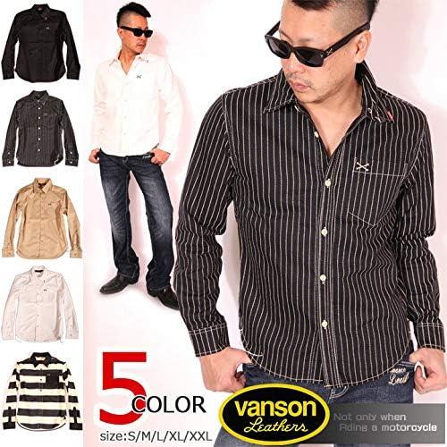 クロスボーン ワンポイント刺繍 ツイルシャツ 長袖シャツ NVSL-803