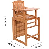Children Multi-Function Disassemble and Assemble Dining Seat Bamboo Sandal Wood