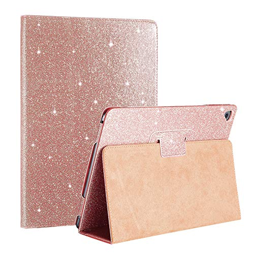 Glittery Sparkle - FANSONG iPad 2018 /iPad 2017 Glittery Case, Bling Sparkle PU Leather Smart Cover [Flip Stand Function] [Auto Sleep/Wake] Universal Case for Apple iPad Air / Air2 Pro 9.7
