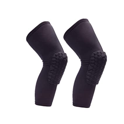 24c0e5a544 Rugby Sports Knee Sleeve Pad, Compression Brace for Baseball, Basketball,  Football, Volleyball