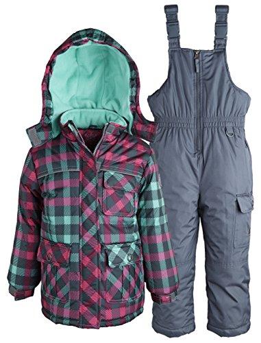 rugged bear big girls water resistant puffer jacket and. Black Bedroom Furniture Sets. Home Design Ideas