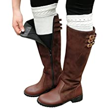 Cozy Design Women's Winter Knitted Hollow out Boot Cuffs