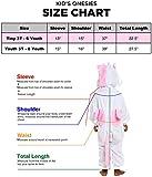 Silver Lilly Kids Unicorn Animal Costume - Childrens One Piece Pajamas (Pink,3T)