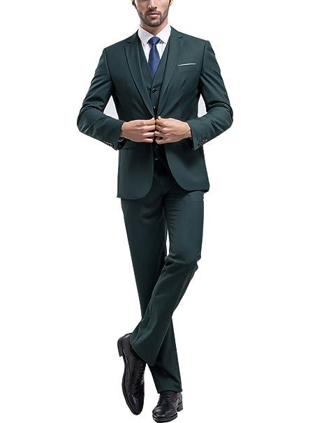 Tsui-Fashion - Traje - Ajustada - para hombre Verde verde 27 ...