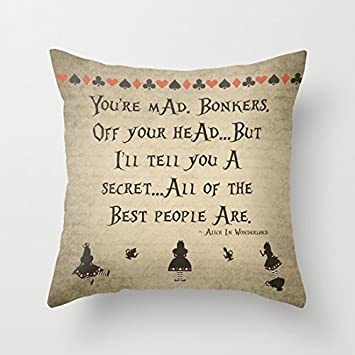 Amazon AHArtSaleStore O40L You Are Mad Bonkers Off Your Head New Pillow That Covers Your Head