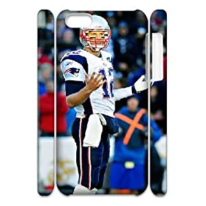 3D Tom Brady Series, IPhone 5C Cases, Tom Brady Cases For IPhone 5C [White]