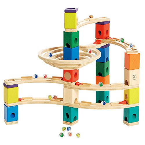 Hape Quadrilla Whirlpool Marble Run Set + Hape Quadrilla Marble Run Add On Set (Quadrilla Twist Marble)