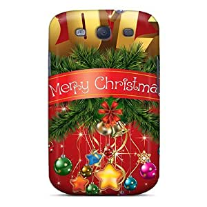 Case Cover 2012 Merry Christmas/ Fashionable Case For Galaxy S3
