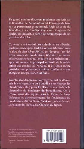 Lire en ligne Lalitâvistara : Vie et doctrine du Bouddha tibétain pdf