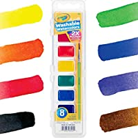 Crayola Washable Watercolors 8 Each Pack of 6 | 5 Color Flags