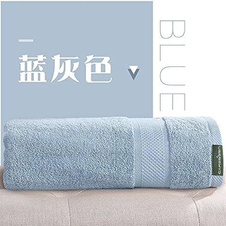 Toallas de algodón, más grande espesada en machos y hembras adultos parejas Hotel toallas suaves y absorbentes,azul-gris: Amazon.es: Hogar