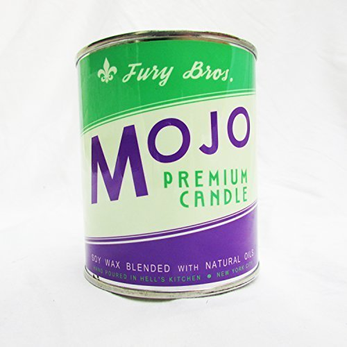 Fury Bros. Mojo Scented Man Candle with Notes of Frankincense and Myrrh, Burning Sage, and Sandalwood (1 Pint Slow Burning Soy Candle)