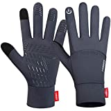 Lanyi Running Sports Gloves Compression Lightweight Windproof Anti-Slip Touchscreen Warm Liner Cycling Work Gloves Men Women (M)