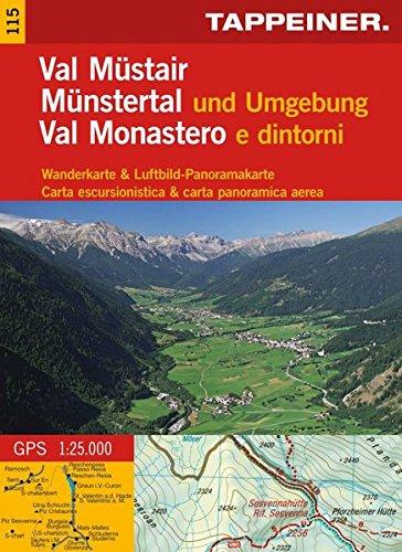 KOKA115 Kombinierte Wanderkarte Münstertal und Umgebung - GPS kompatibel - Maßstab 1:35.000 (Kombinierte Sommer-Wanderkarten Südtirol) (Kombinierte ... / Topografische Karte + 3D-Panoramakarte)