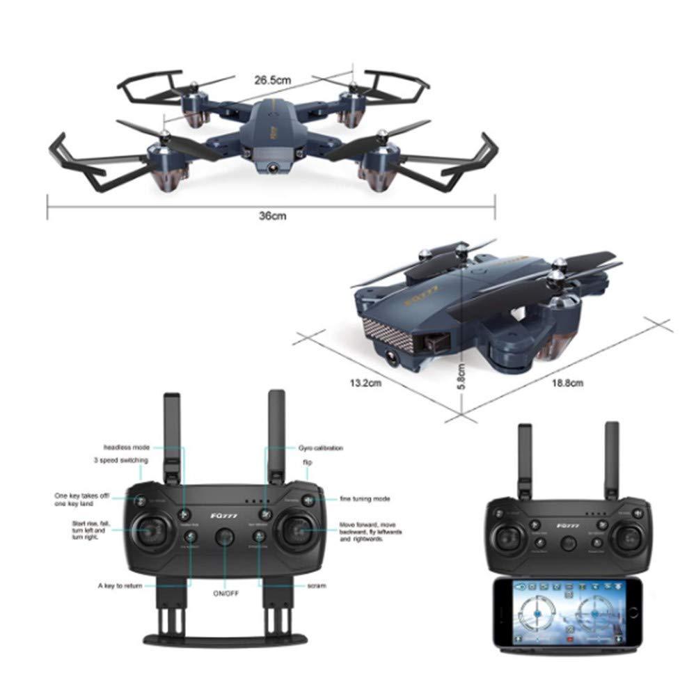 en linea LXQ LXQ LXQ Drone Plegable con cámara WiFi FPV Quadcopter con 720P Cámara HD de Gran Angular Video en Vivo Control de Aplicaciones móviles Helicóptero RC para niños - Control de Altura Botón de Inicio  garantía de crédito