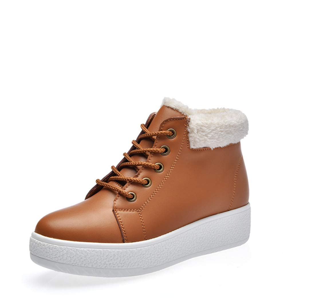 DANDANJIE Damenschuhe Snow Stiefel Fashion Keil Heel Student Warm 2018 Winter Schuhe