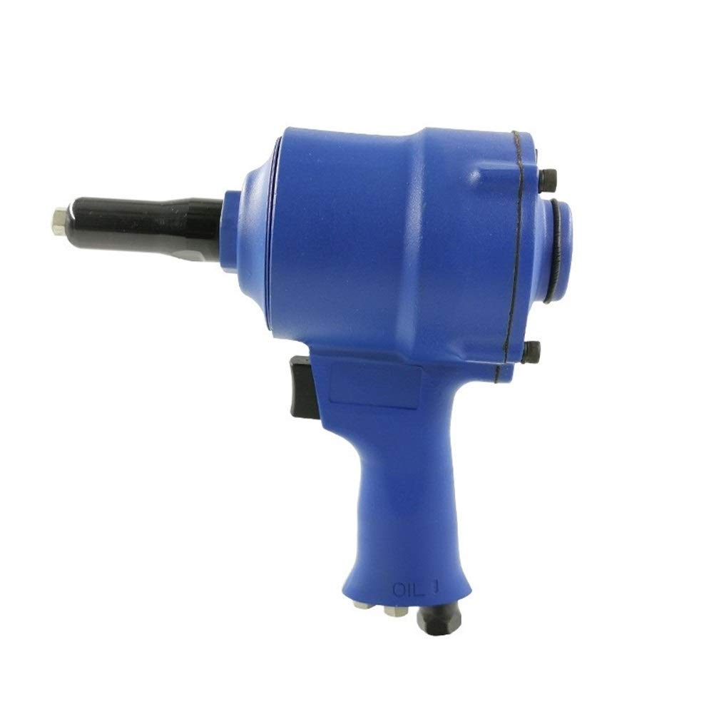 Pneumatic Rivet Gun, Decoration Engineering Pneumatic Nailing Tool Industrial Grade Hand Tool (Color : Blue) by XIAOL-Pneumatic Tool