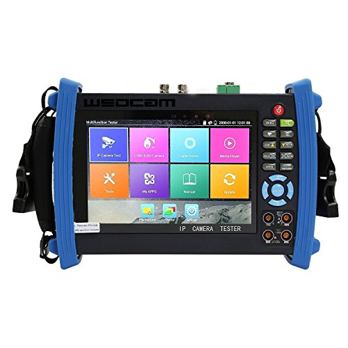 Wsdcam 7 Inch Retina Display IP Camera Tester CCTV Tester CVBS Analog Tester with DMM/POE/IP discovery/Rapid ONVIF/WIFI/8G TF Card/4K H.265/HDMI In&Out/RJ45 TDR/Firmware Update Upgraded 8600M-Plus by wsdcam