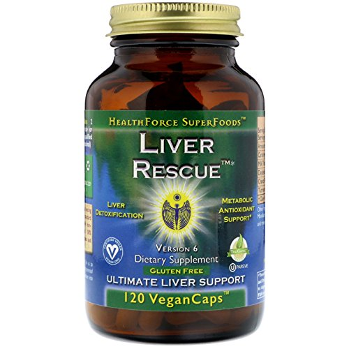 HealthForce SuperFoods Liver Rescue 120 Count Vegancaps, Version 6