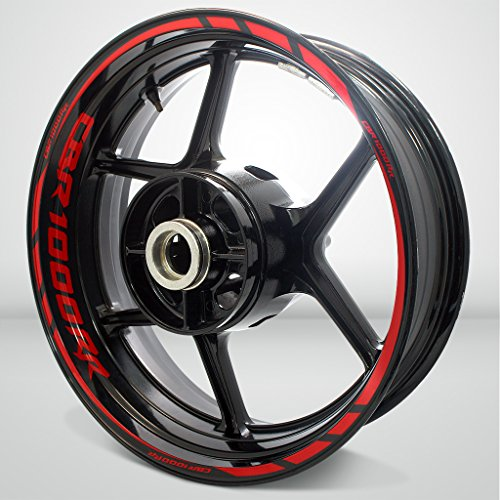 Red Motorcycle Rims - 5